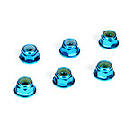 Losi TLR336001, 4mm Aluminum Serrated Lock Nuts, Blue (6)