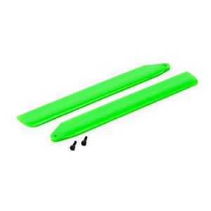 Hi-Performance Main Rotor Blade Set, Green: Blade 130 X
