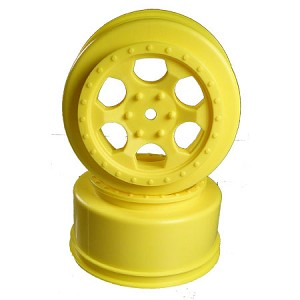 Wheels, Trinidad Losi SCTE w/34mm Backspace, Yellow (2)