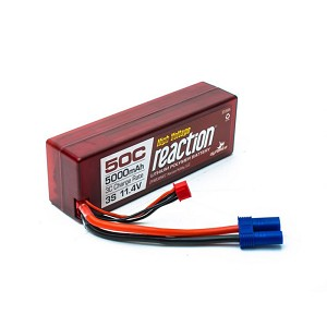 Reaction HV 11.4V 5000mAh 3S 50C LiPo, Hardcase: EC5