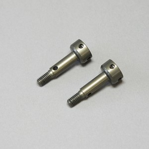 Mugen A2224, Alum Rear Wheel Axle (2pcs): MTC1