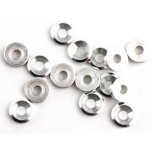 Mugen B0407, 3mm Concave Flat Washers (10)
