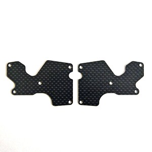 Mugen E2156, Graphite Rear Lower Suspension Arm Mount Plate (1mm): X8