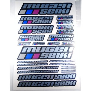 Mugen Seiki Large Chrome Decal Sticker Sheet