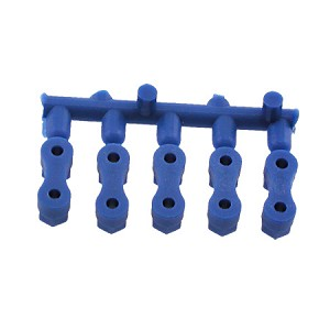 Servo Bar Plastic Mounting Nuts for Standard Size R/C Servos, Blue, 10273