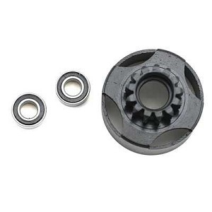 OFNA 1/8 Nitro 15T Vented Clutch Bell w/Bearings, 10422