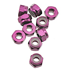 OFNA Aluminum 4mm Lock Nuts, Purple (10) 10984