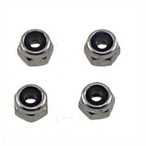 Shock Shaft 2.5mm Piston Lock Nut (4)