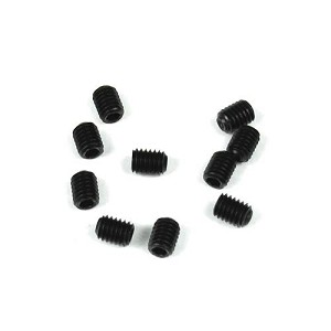 M3x4mm Set Screws (black, 10pcs)