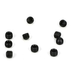 Losi TLR6291, M5x4mm Setscrews, Flat Point (10)