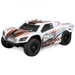 Losi Tenacity 1/10 4wd SCT Ready to Run w/AVC: White/Orange